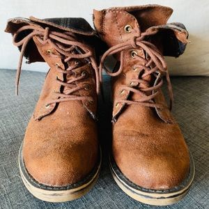 American Rag Suede and flannel boots